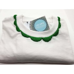 Tee-shirt Collerette Verte