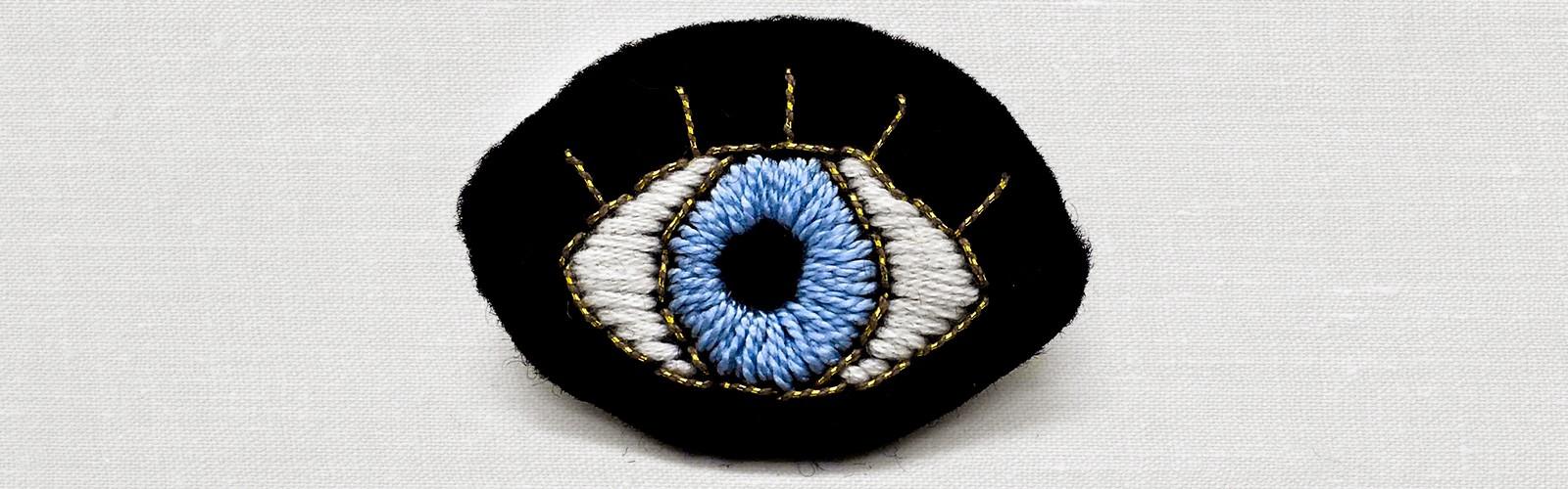 Broche Brodée oeil